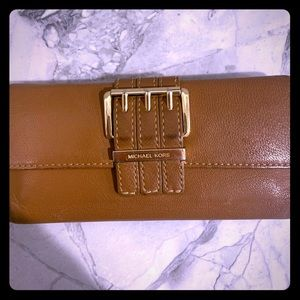 Michael Kors large brown wallet
